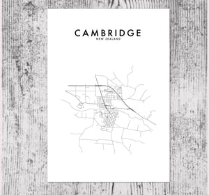 CAMBRIDGE, NZ HOMETOWN PRINT