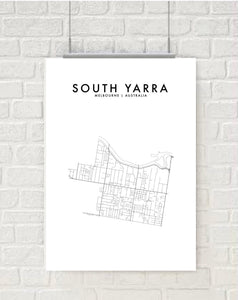 SOUTH YARRA - MELBOURNE HOMETOWN PRINT