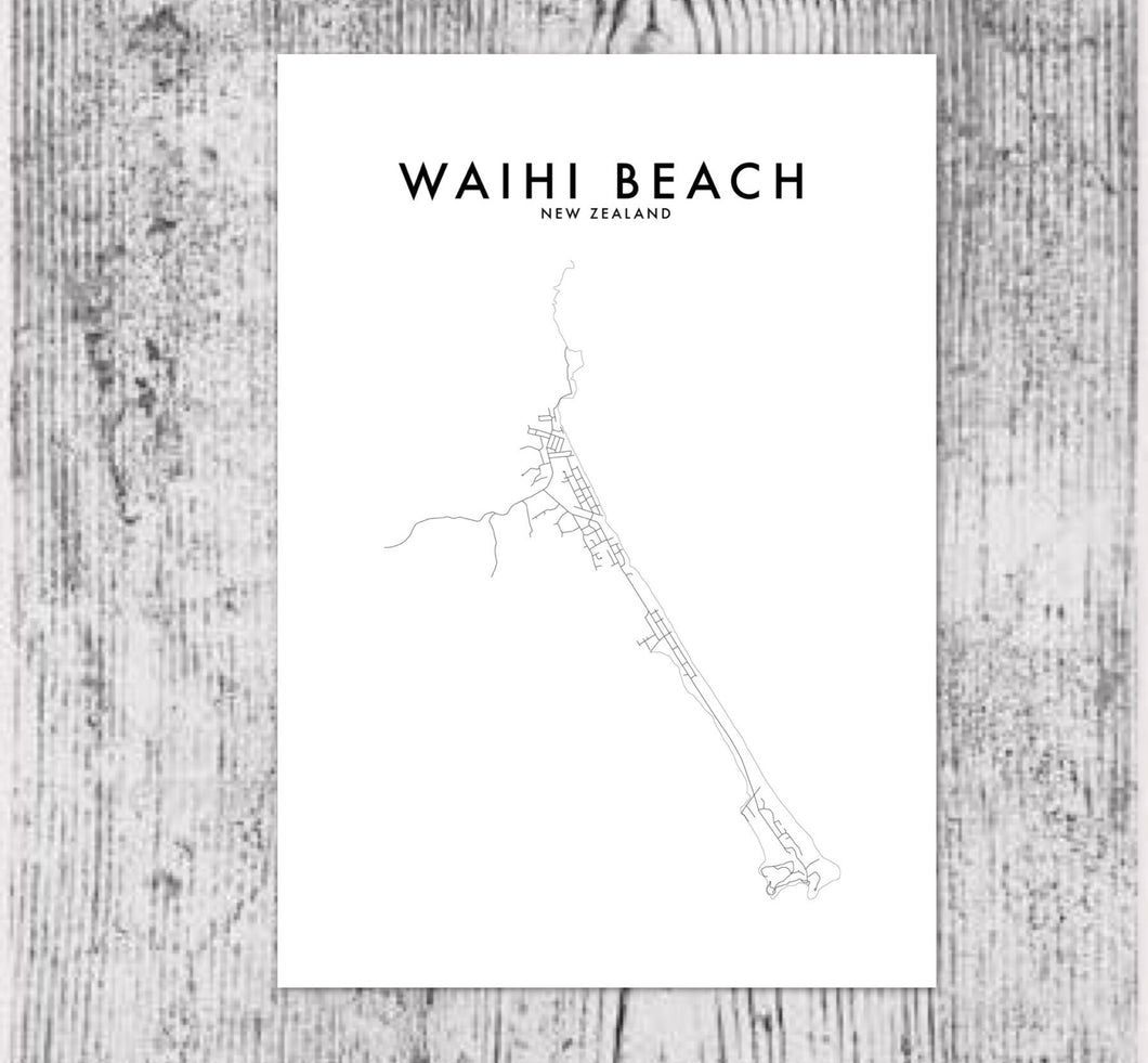 WAIHI BEACH HOMETOWN PRINT