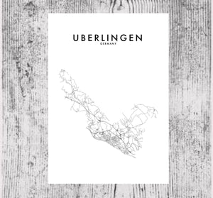 UBERLINGEN - GERMANY HOMETOWN PRINT