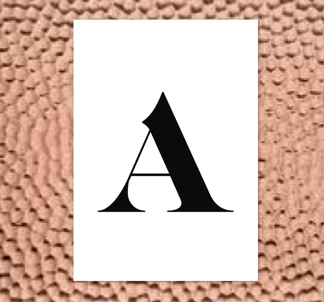 A - LETTER PRINT