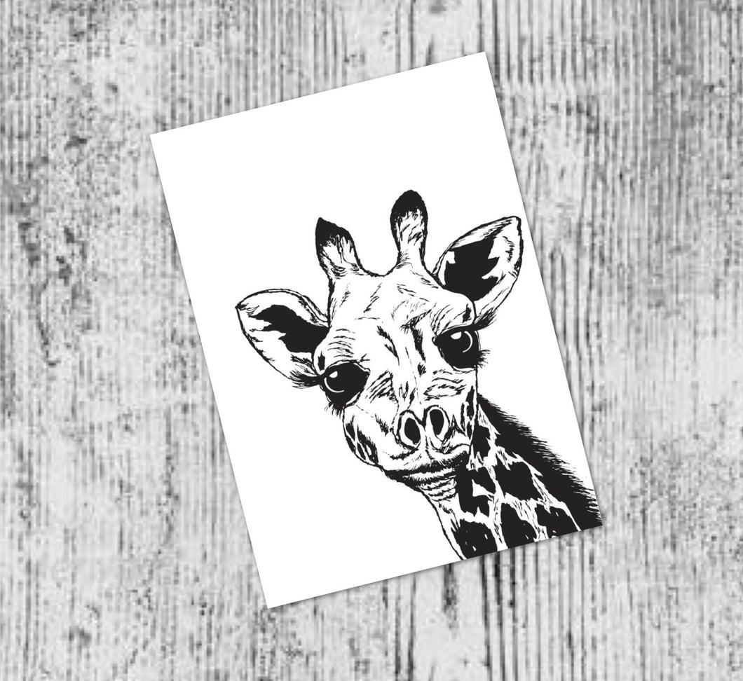 JACKSON THE GIRAFFE - A4 PRINT