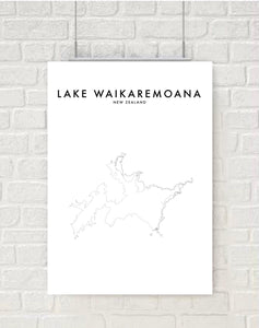 LAKE WAIKAREMOANA HOMETOWN PRINT