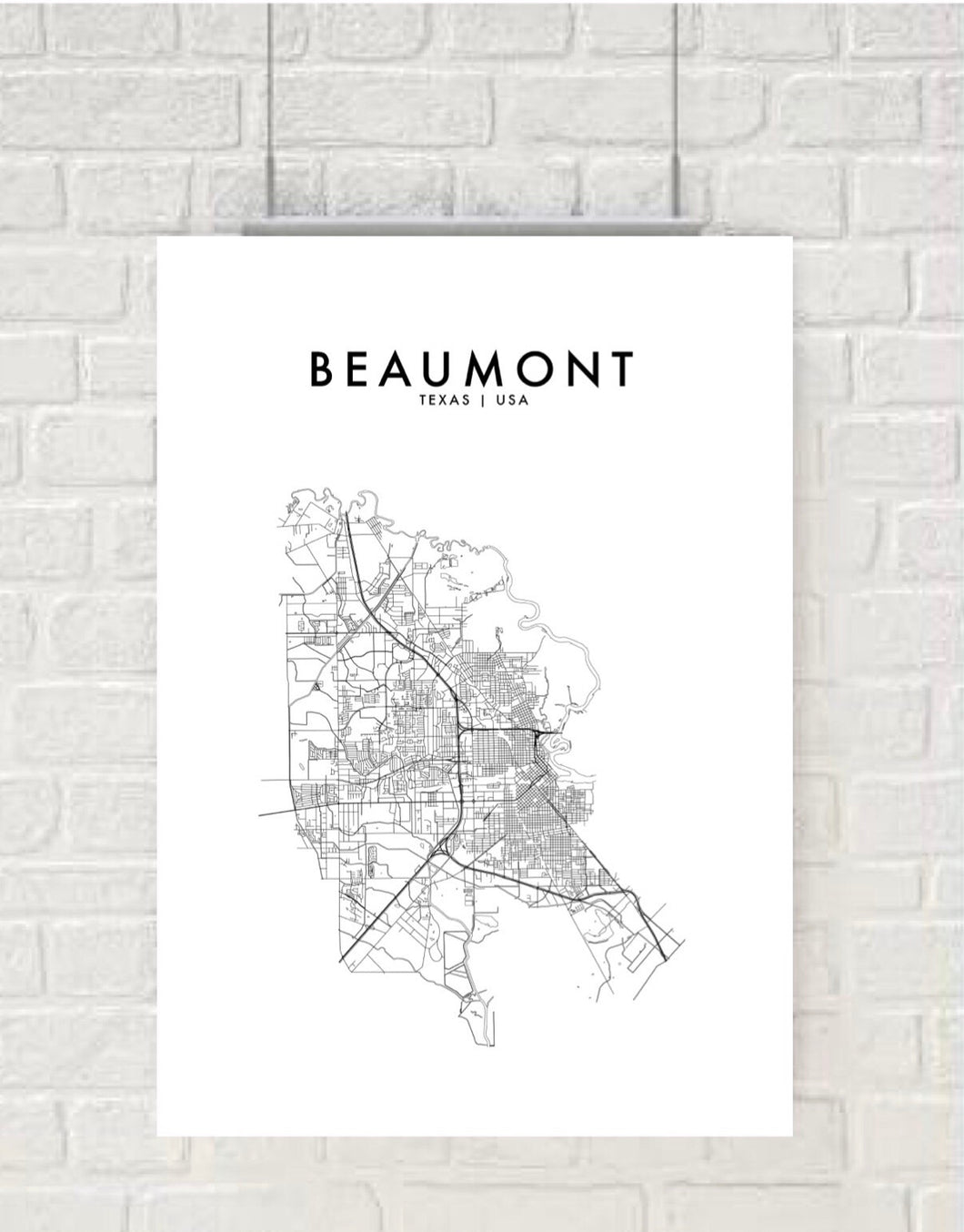 BEAUMONT, TEXAS, USA HOMETOWN PRINT