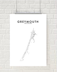 GREYMOUTH HOMETOWN PRINT