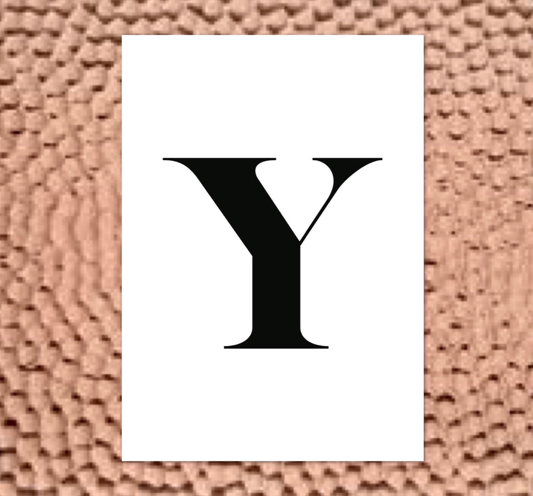 Y - LETTER PRINT