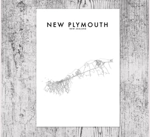 NEW PLYMOUTH HOMETOWN PRINT