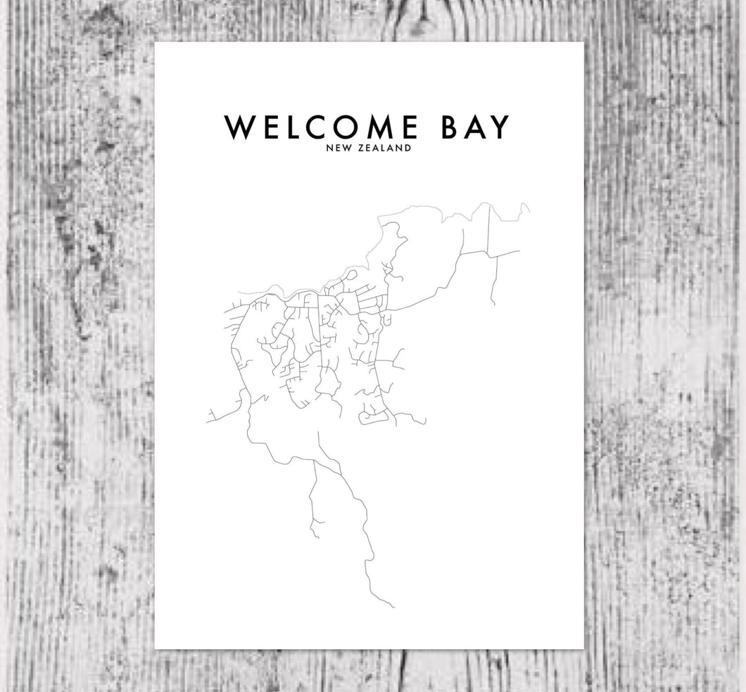 WELCOME BAY HOMETOWN PRINT