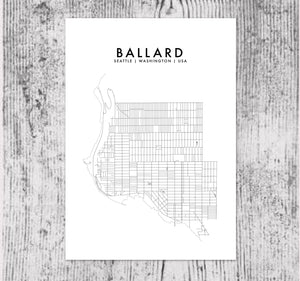BALLARD, SEATTLE HOMETOWN PRINT