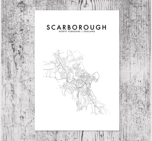 SCARBOROUGH, ENGLAND HOMETOWN PRINT