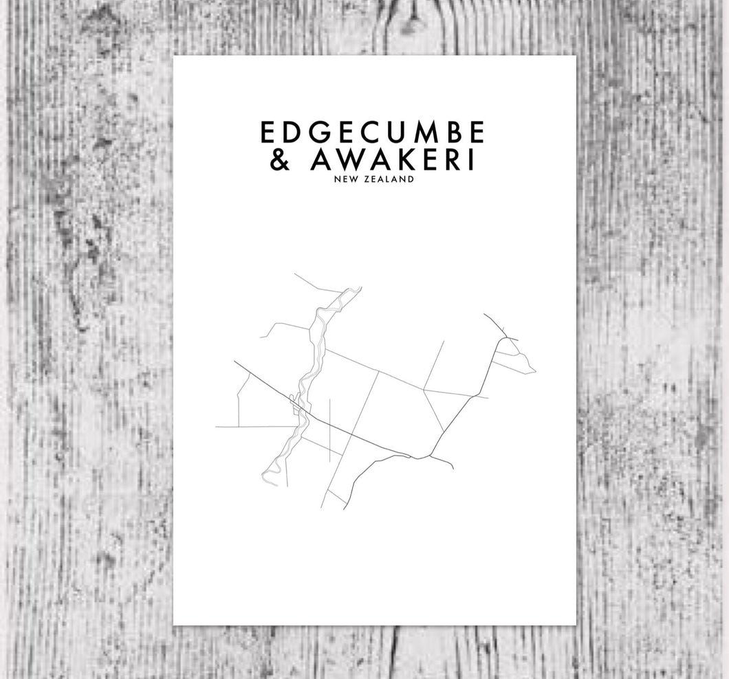 EDGECUMBE & AWAKERI HOMETOWN PRINT
