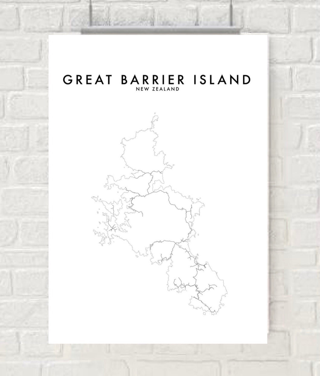GREAT BARRIER ISLAND HOMETOWN PRINT
