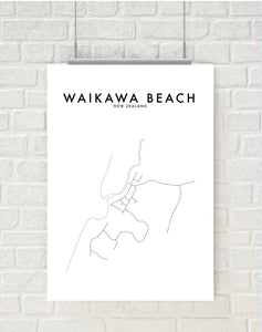 WAIKAWA BEACH HOMETOWN PRINT