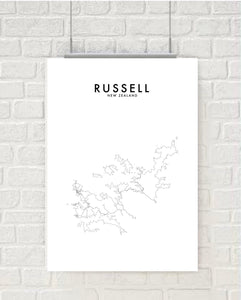 RUSSELL HOMETOWN PRINT