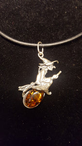 AMBER WITCH PENDANT