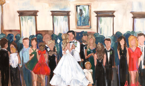 Laura W Taylor Live Wedding Painting at De La Ronde Hall