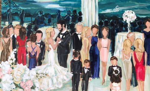 Hilton Baton Rouge Live Wedding Painting