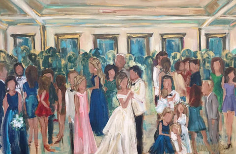 De La Ronde Hall Live Wedding Painting