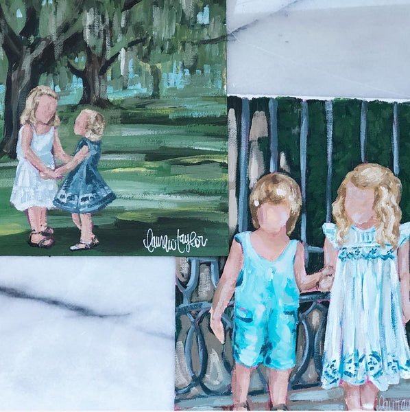 Acrylic Family Portraits