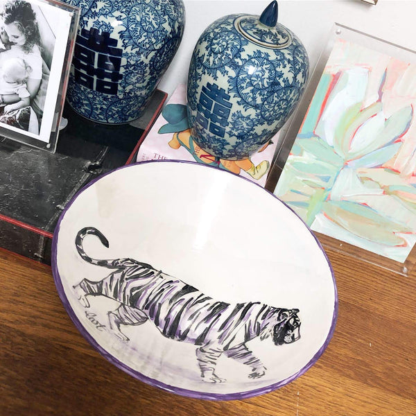 Tiger Statement Bowl - Ceramic