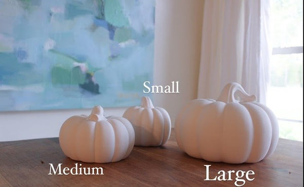 LWT Pumpkin - Blue and White Ceramic