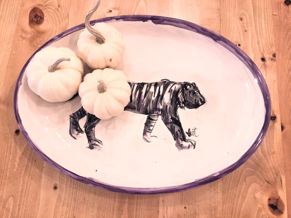 Tiger Statement Platter- Ceramic