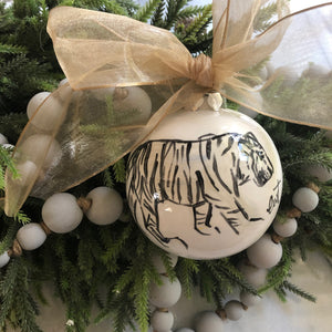 LWT Tiger Ornament - Ceramic