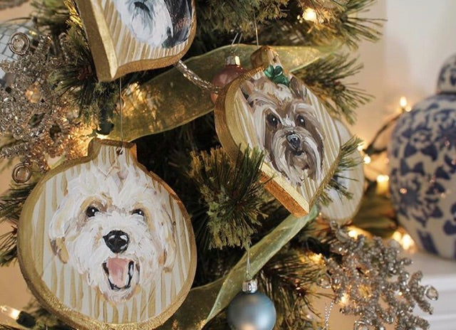Pet Portrait Christmas Ornament