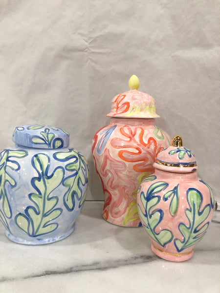 Colored Ginger Jars