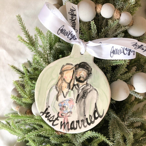 Custom Just Married Ornament