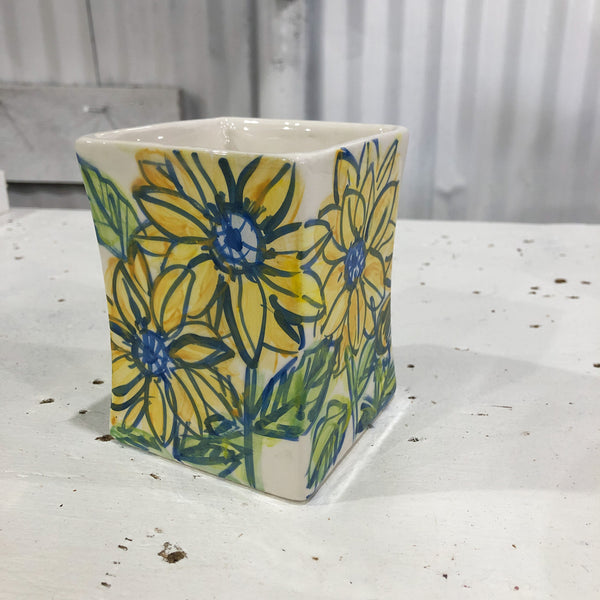 Square Sunflower Vase
