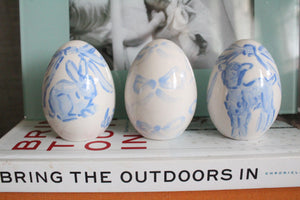 2021 Blue Ceramic Eggs