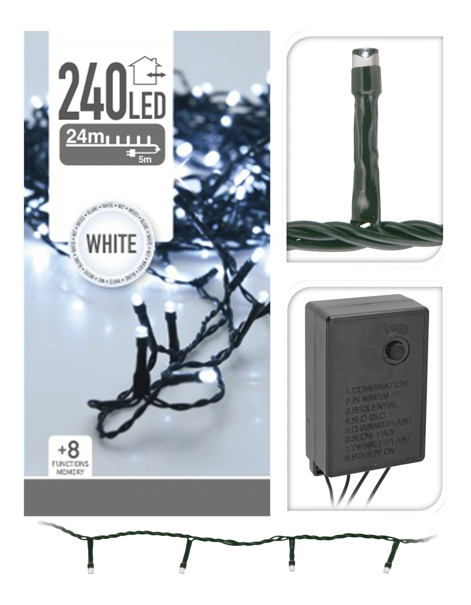 240 Ice White LED String Lights from The Christmas Forest