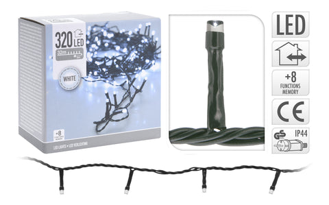 320 Ice White LED String Lights