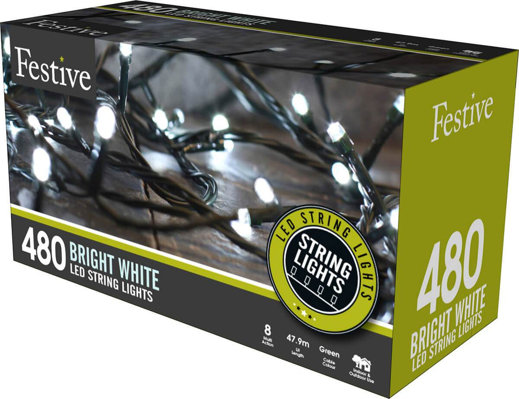 480 Ice White LED String Lights from The Christmas Forest