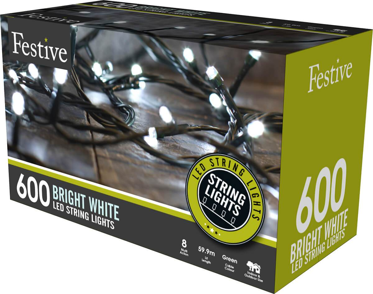 600 Ice White LED String Lights from The Christmas Forest