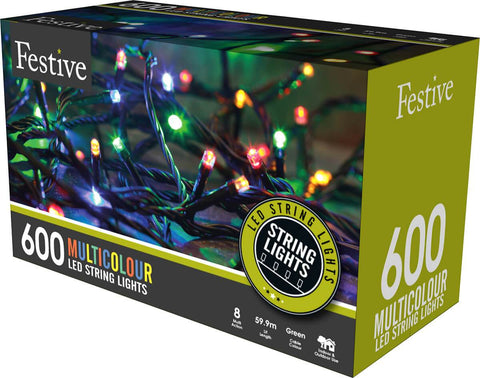 600 Multicolour LED String Lights