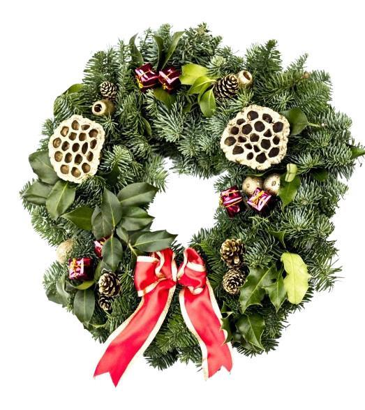 10inch Decorated Wreath from The Christmas Forest