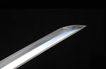 Hand Forge Japanese Sword Clay Temperd Blade Samurai Katana Sharp