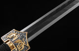 Chinese Sword Jian Damascus Folded Blade Han Dynasty Sword