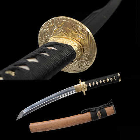 Fully Handmade Classic Clay Tempered Unokubi-Zukuri Blade Tanto Sword Full Tang Sharp