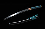 Samurai Japanese Wakizashi Sword 1095 Steel Clay Tempered Blade Katana Sword