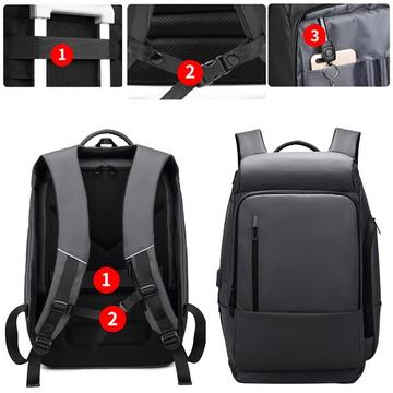 Water Repellent Men's Laptop Backpack!