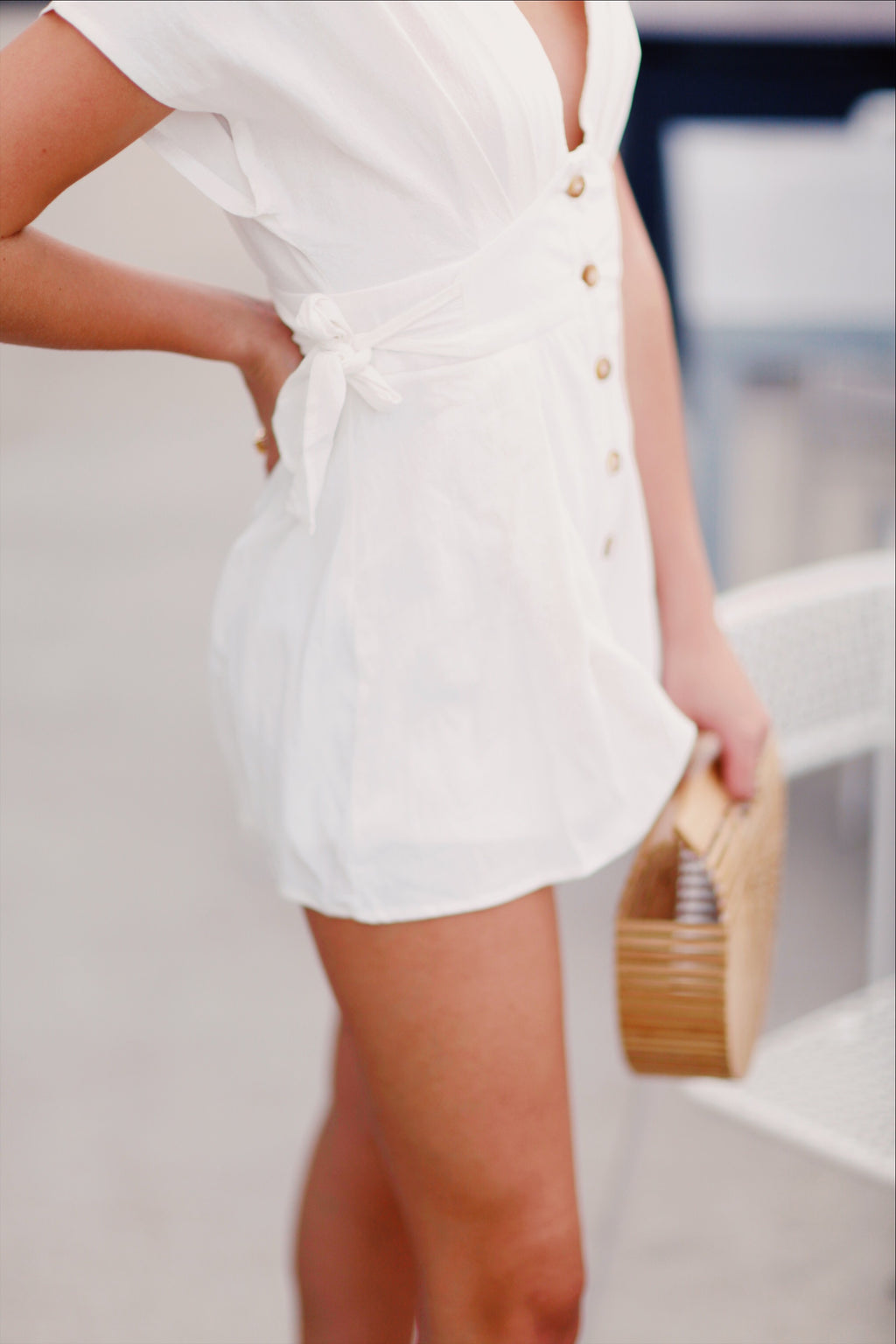 White Harlow Playsuit