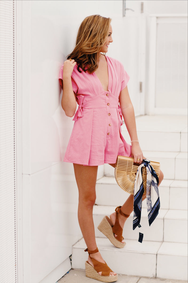 Pink Harlow Playsuit