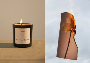 Rose and Oudh candle