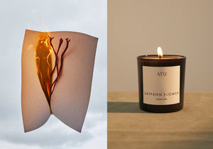 Saffron Flower candle