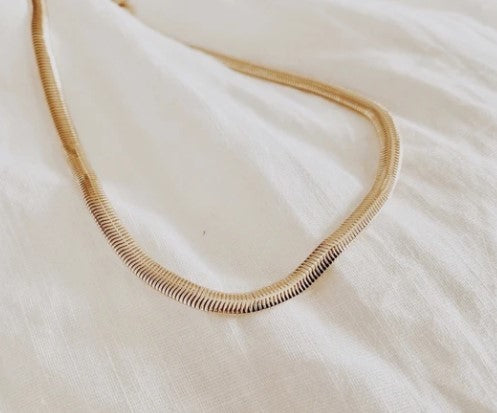 Snake chain gold filled necklace
