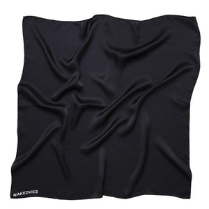 Naked Vice Silk scarf black