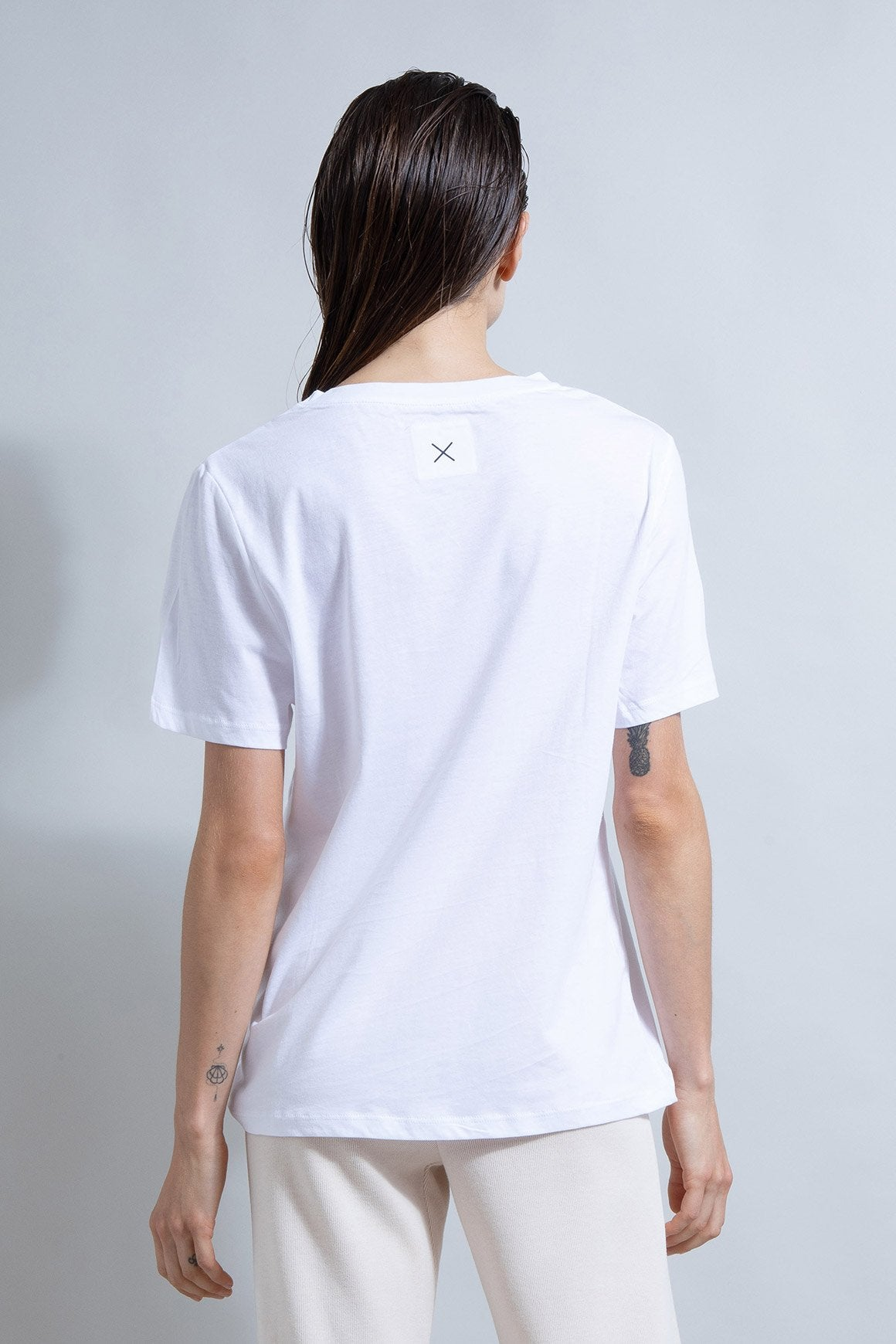 This is First Base Boyfriend Tee white